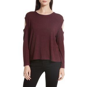 NWT RAG&BONE/JEAN Burgundy Cold Shoulder Top
